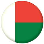Madagascar Country Flag 58mm Mirror Keyring